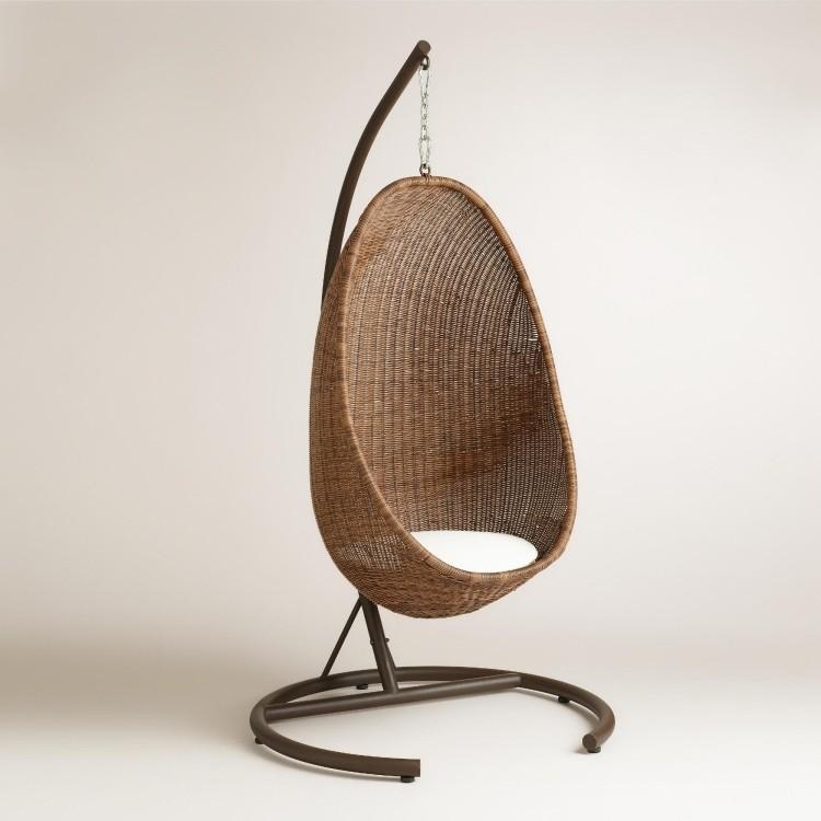 sillas colgantes exteriores diseño estantes