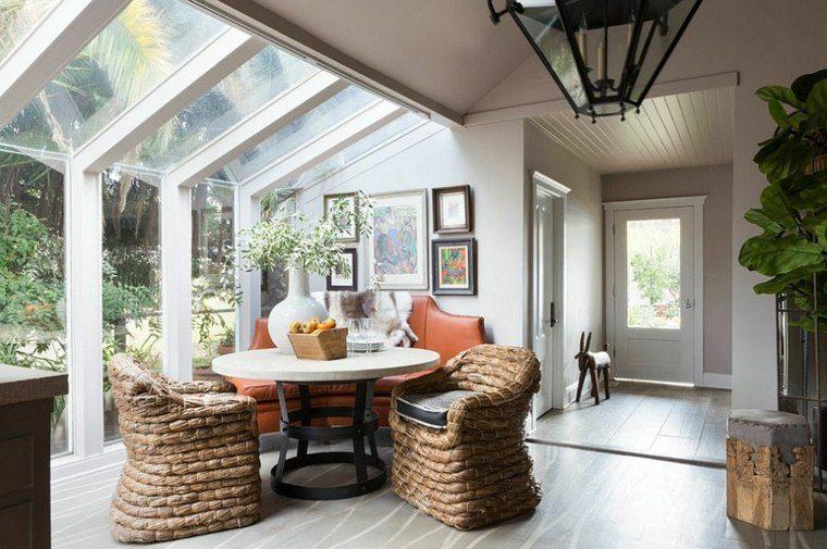 sillas materiales naturales sofa cuero ideas
