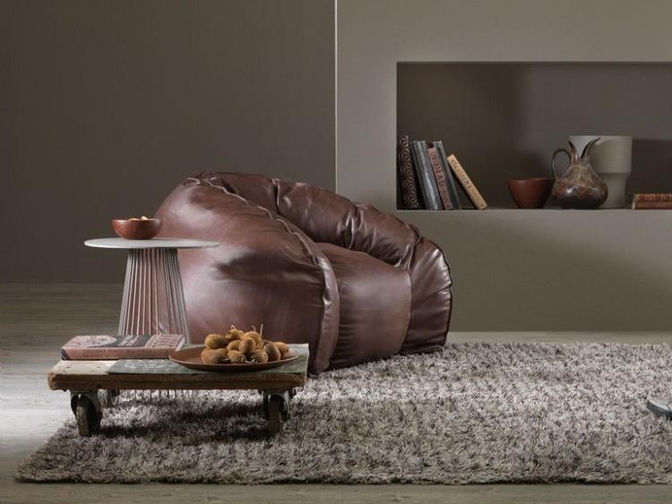 sillones casa moderna diseno cuero negro ideas