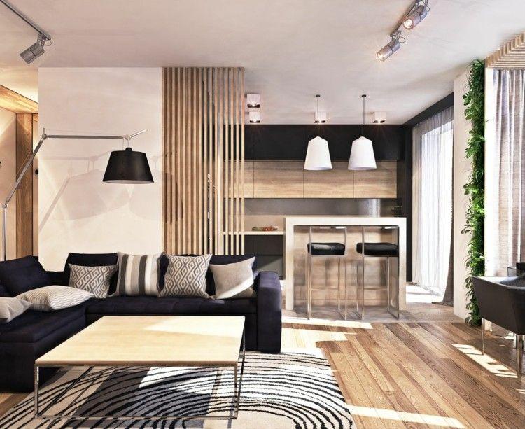 suelo madera grises lamparas calido