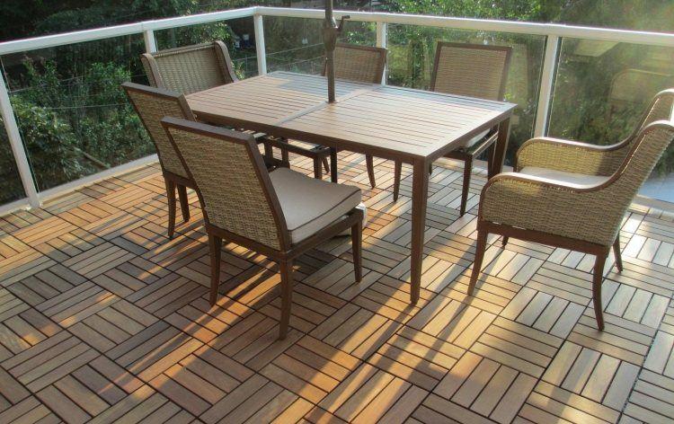 suelos madera exterior balcon sillones rattan ideas