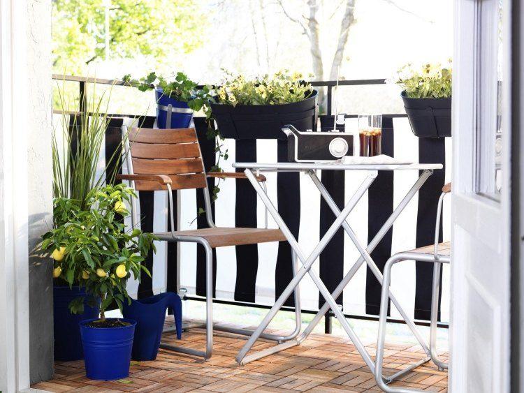 suelos madera exterior cubos azul balcon ideas