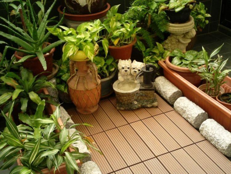 suelos madera exterior decoracion plantas balcon ideas