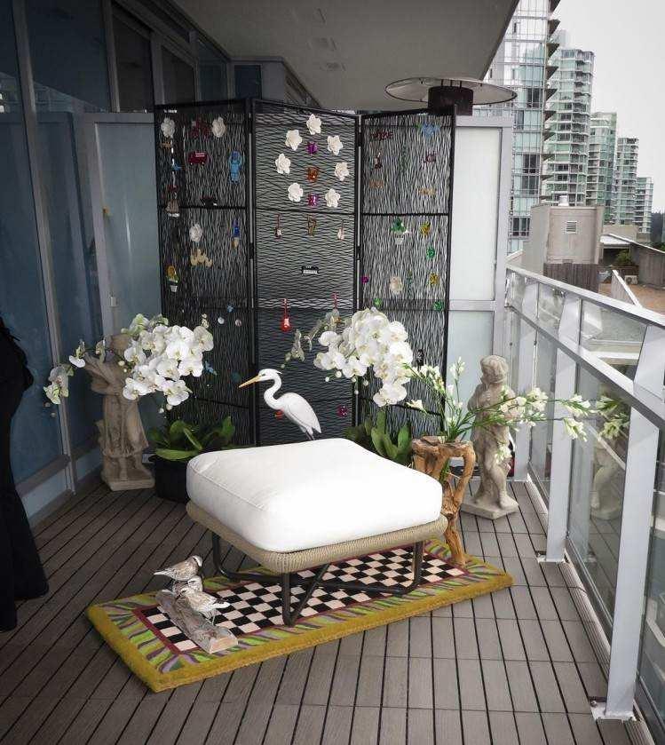 suelos madera exterior figuras decorativas balcon ideas