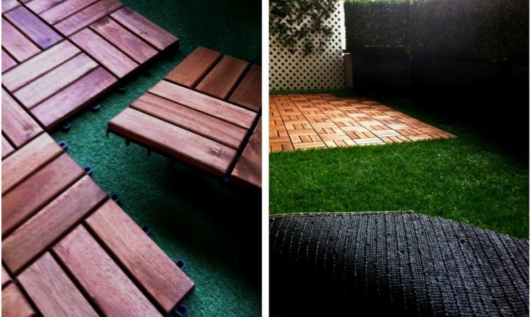 Suelos de madera 50 ideas para el balc n - Suelo madera jardin ...