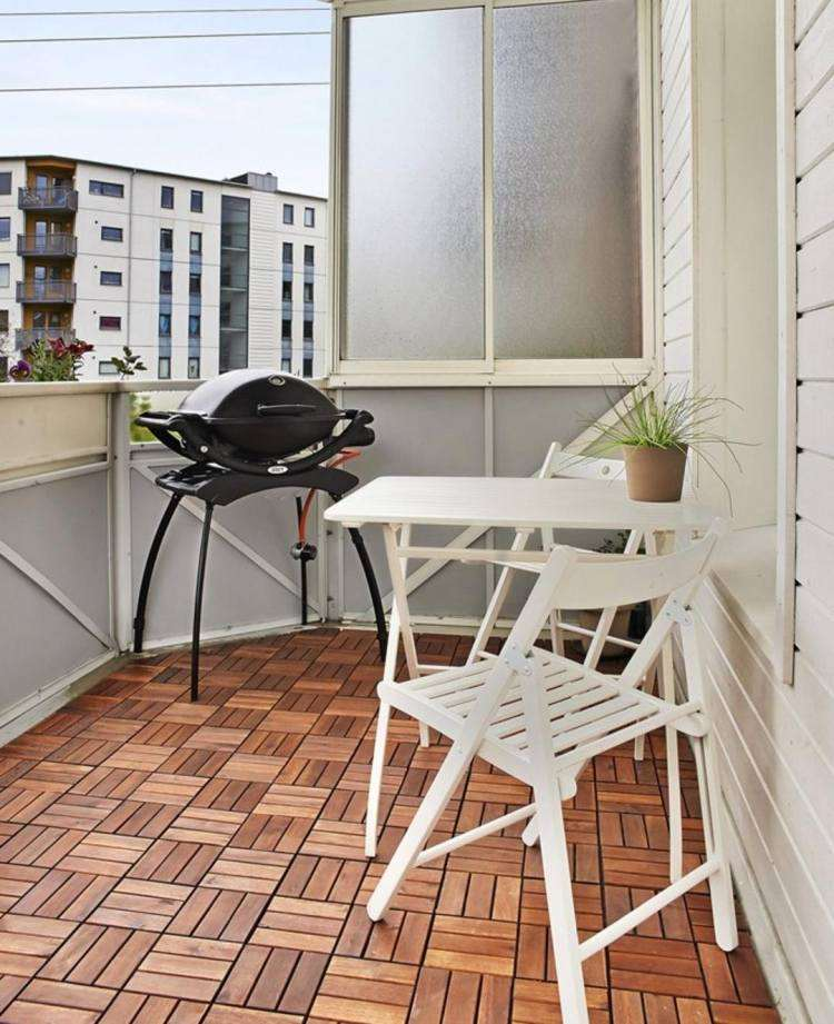 suelos madera exterior mesa sillas plegables ideas