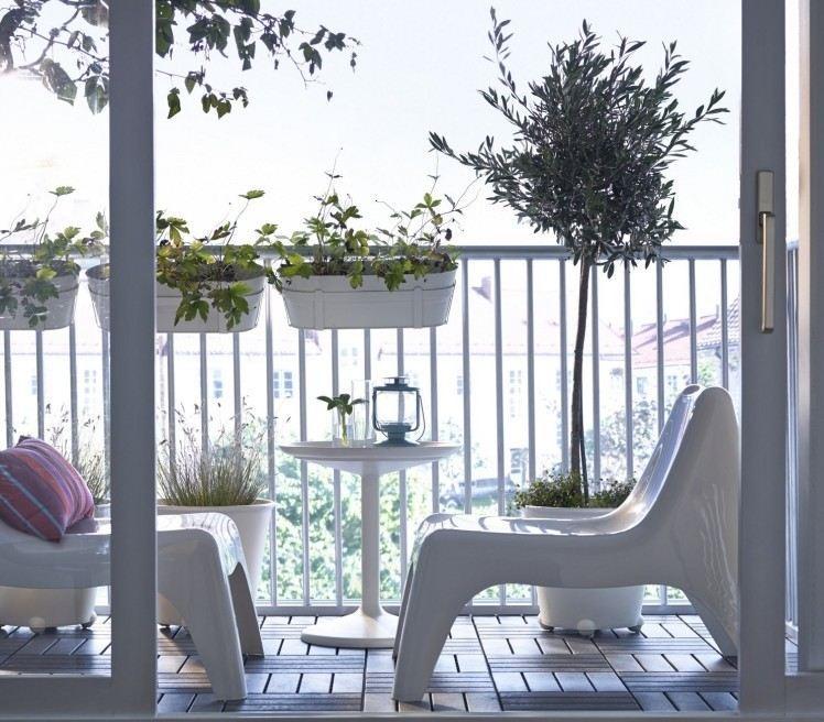 suelos madera exterior muebles blancos modernos ideas