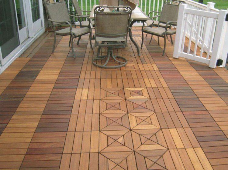 Suelos de madera 50 ideas para el balc n for Suelos para patios rusticos
