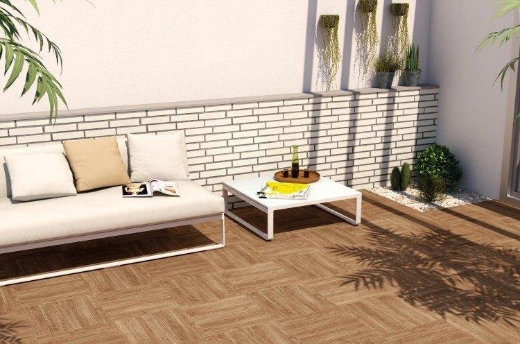 suelos madera exterior sofa pared losas ideas