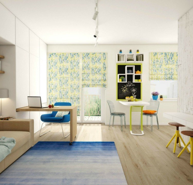 suelos diseños casa moderna alfombra sillas