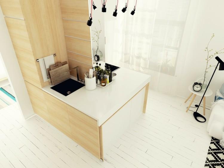 suelos diseños casa moderna blanco monocromatico