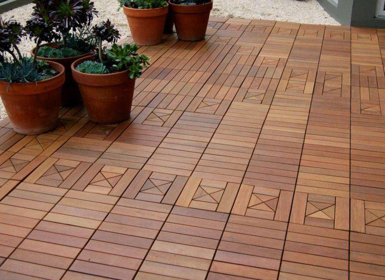suelos madera opciones balcon macetas ideas