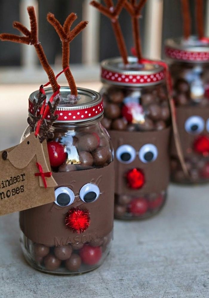 tarros caramelos decorados renos ideas