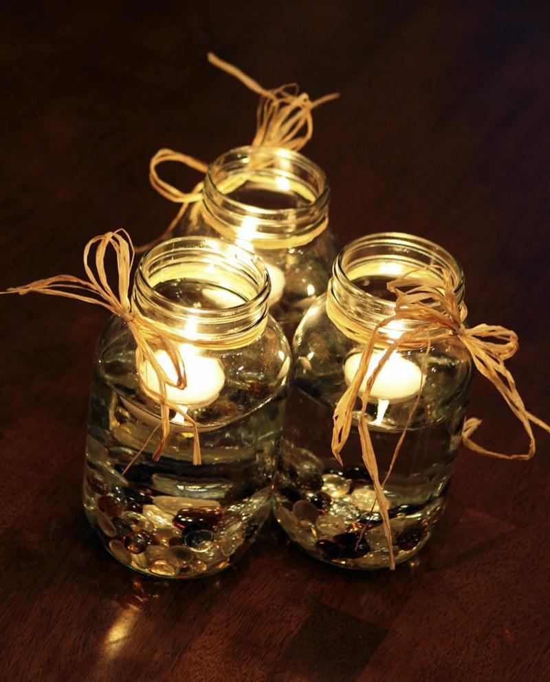 tarros vidrio velas piedras cruistales