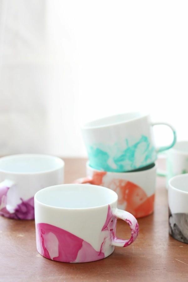 tazas cafe pintadas varios colores