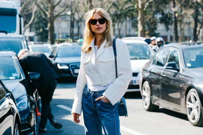 tendencias invierno 2015 abrigo corto blanco ideas