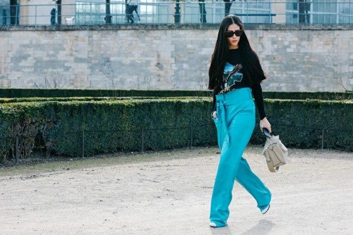 ropa invierno 2015 pantalon azul ideas