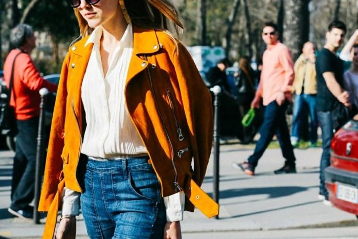ropa invierno 2015 vaqueros preciosos abrigo amarillo ideas