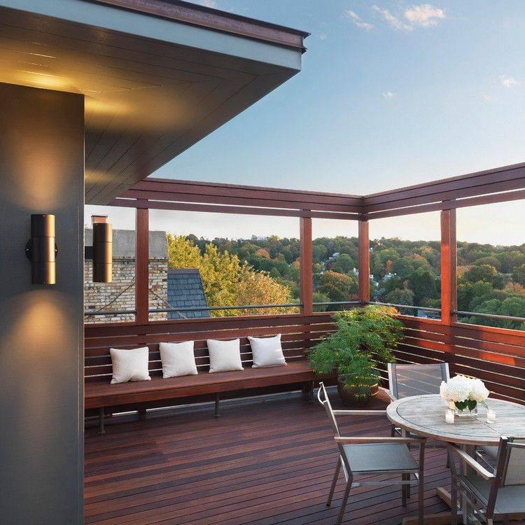 terraza madera estilo minimalista