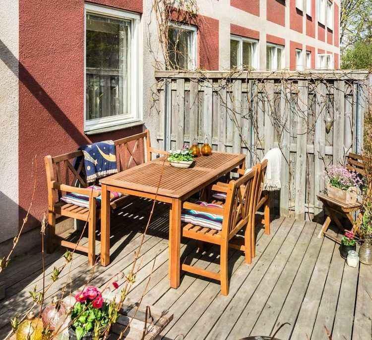 terraza rustica madera natural