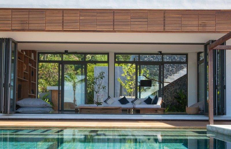 terraza moderna vistas piscina