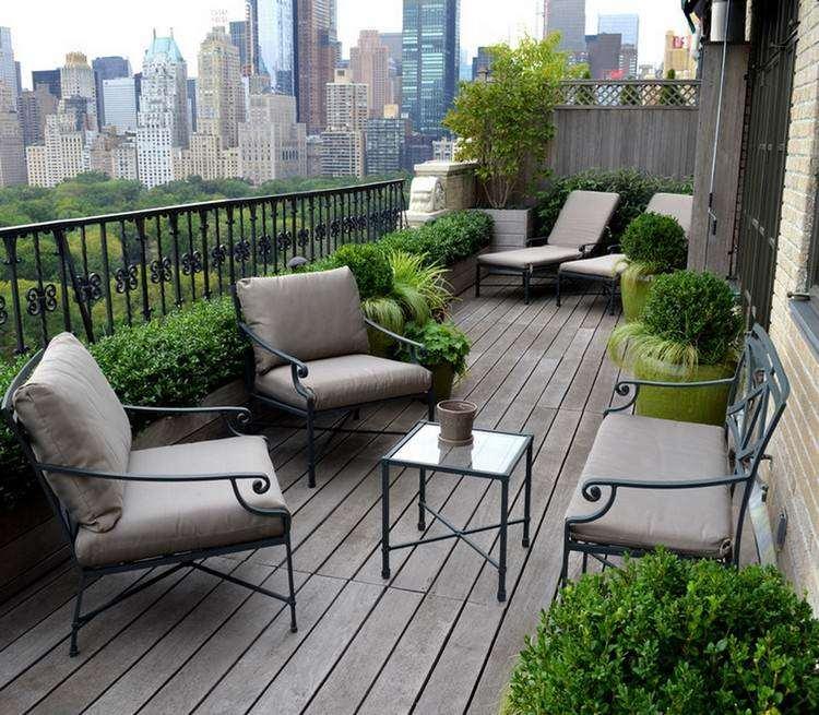terraza suelo madera gris