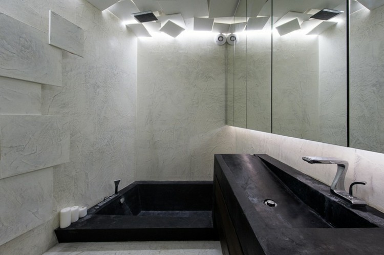 texturas ideas casa ducha oscuro