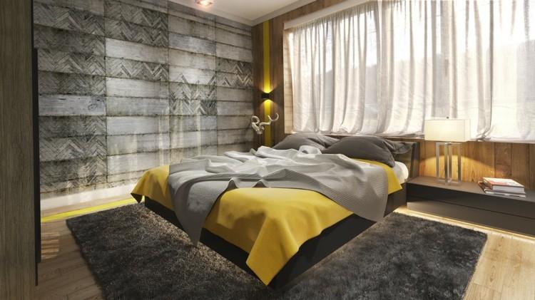 texturas paredes diseño creativo cortinas amarillo