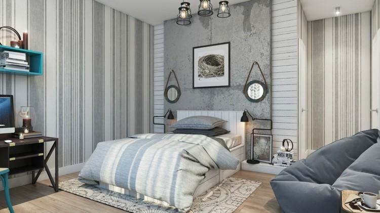 Texturas paredes y dormitorios sumamente elegantes.