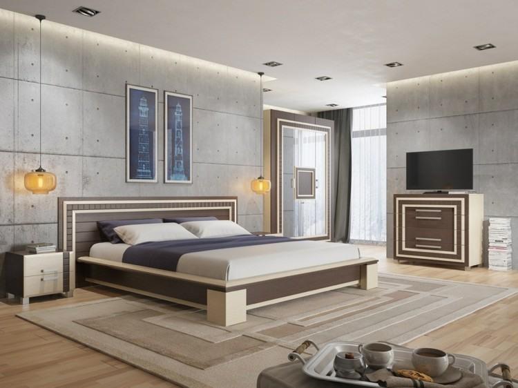 texturas paredes diseño creativo hormigon cama