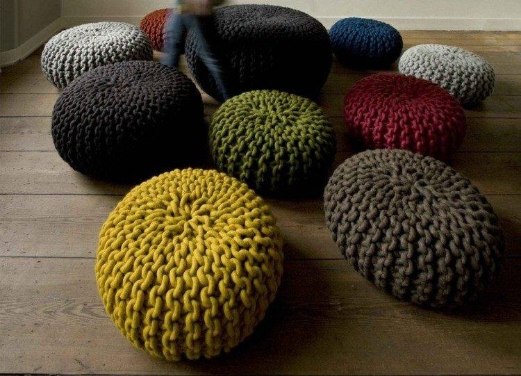 trenzado alfombra sillas suelos madera