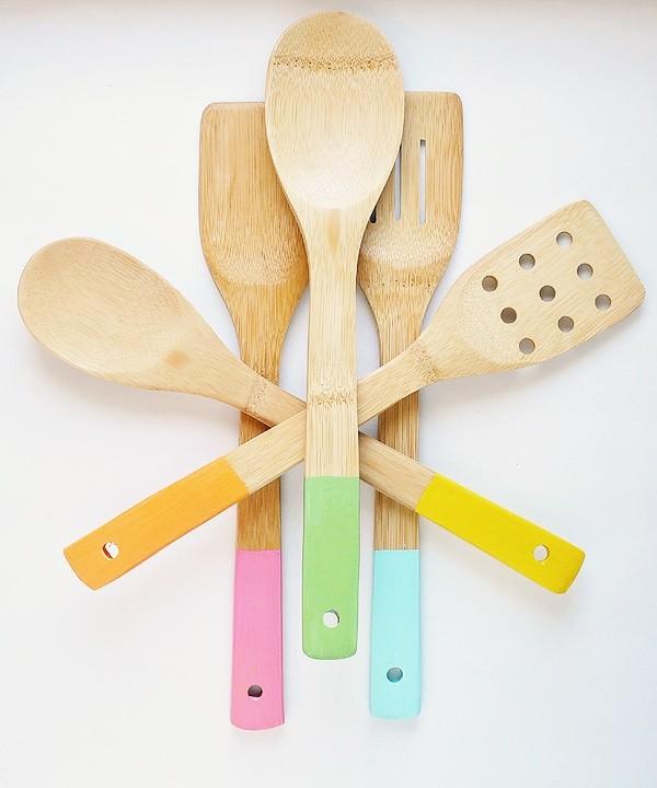 utensilios cocina madera mangos colores