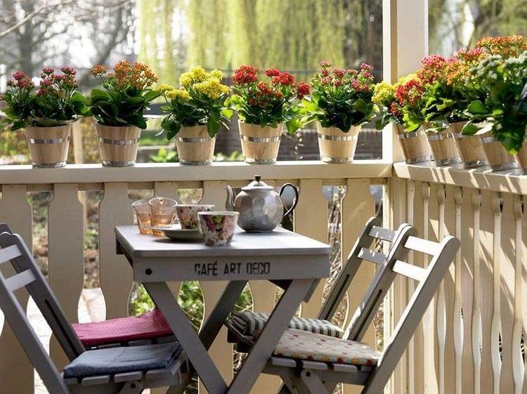 valla terraza muebles retro
