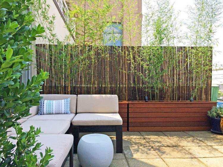 persianas terraza banco madera teca