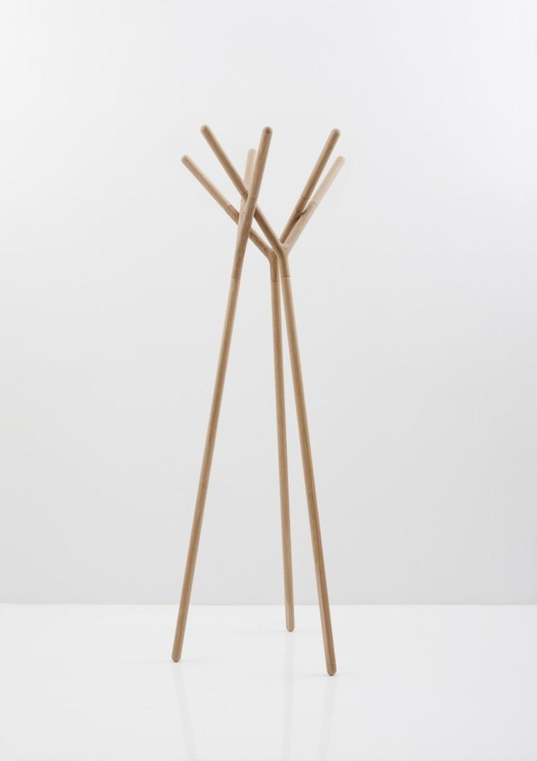 varas madera perchero en forma de Y