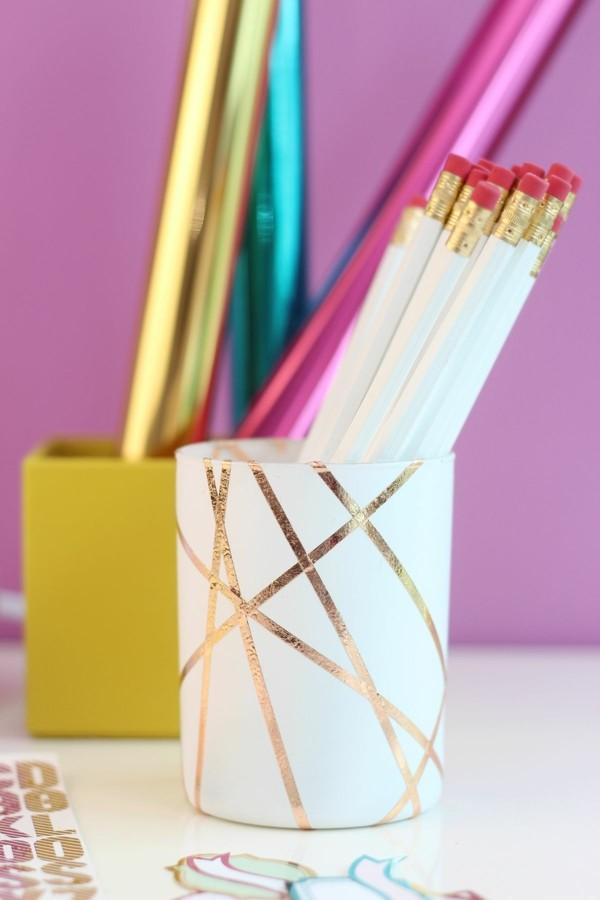 regalos para navidad vaso decorado porta lapices colores