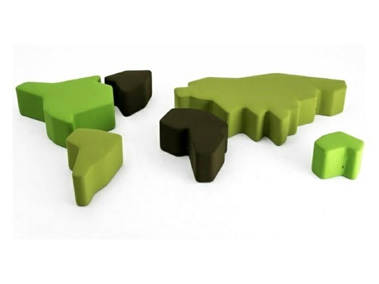verde alfombra sillas oscuro marrones