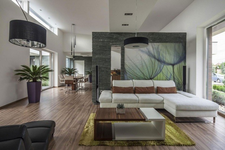 Decoracion de interiores salones modernos 36 dise os for Casa moderna 2019