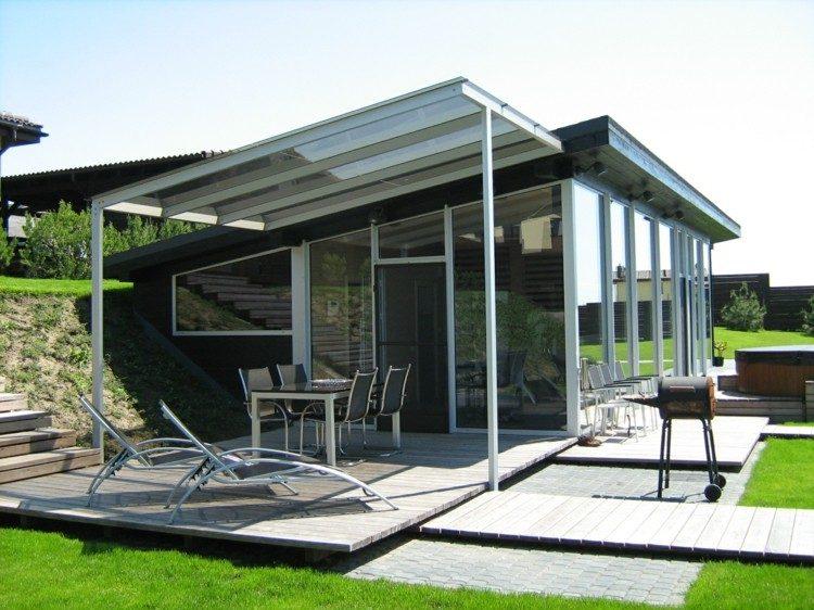 Cerrar terrazas ideas para acristalar balcones a la moda - Porches para terrazas ...