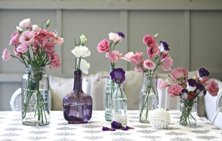 adornos florales elementos botellas vidrio
