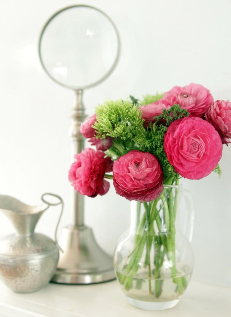 adornos florales elementos vidrio rosa