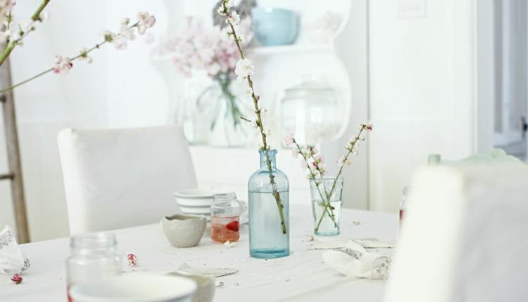 adornos florales ramas ideas vidrio