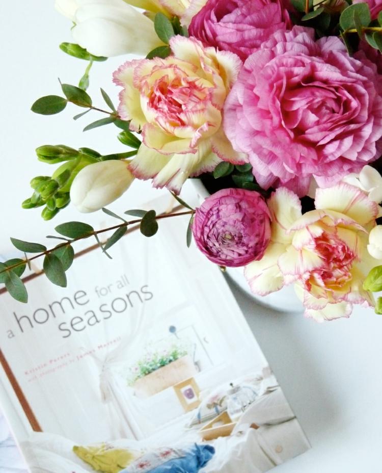 adornos florales rosa carteles revistas