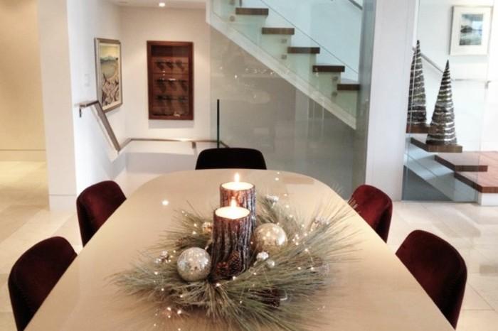 adornos navideños diseño centros mesas bolas