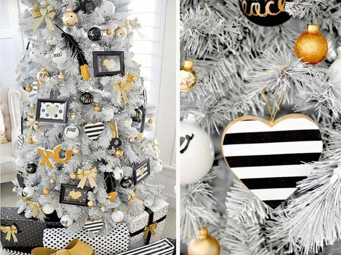 adornos navideños diseño dorados negro