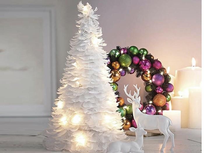 adornos navideños diseño renos plantas calido