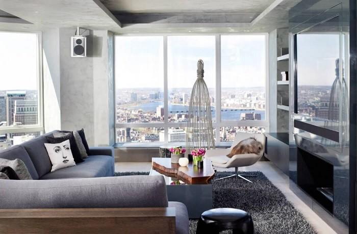 fotos de salones modernos estilo fresco luminoso hormigon