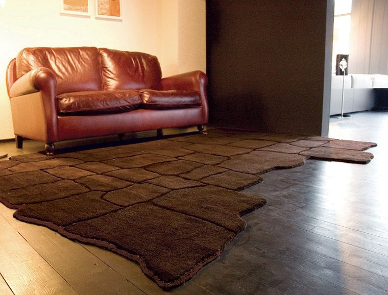 alfombra moderna color marron precioso ideas