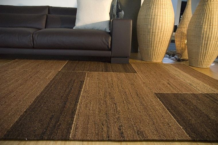 alfombra moderna color marron salon moderno ideas