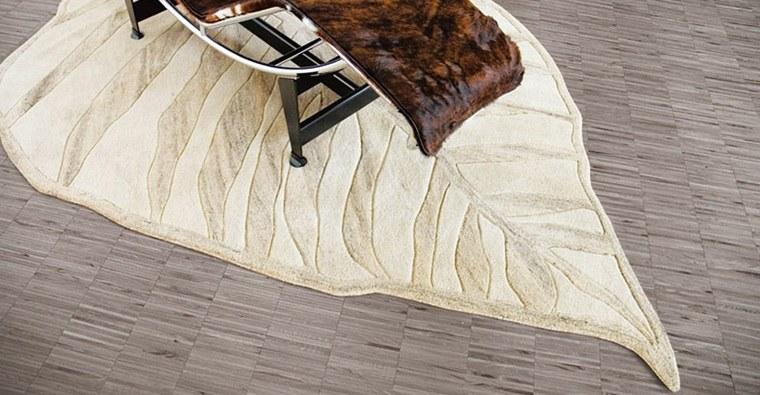 alfombra moderna forma hoja preciosa ideas